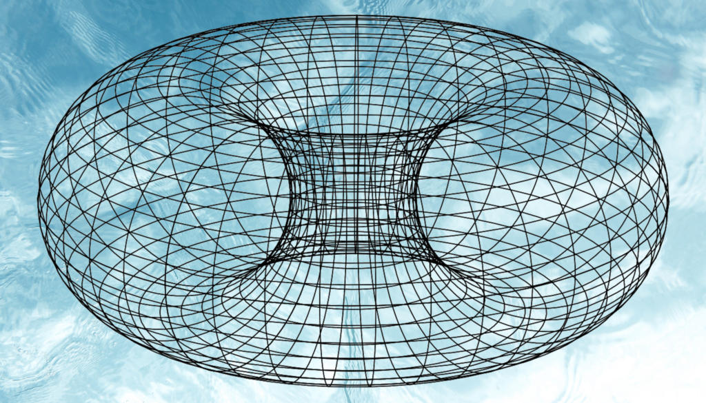 Torus wired mesh plot python matplotlib python 3 numpy jupyter notebook psychdelic