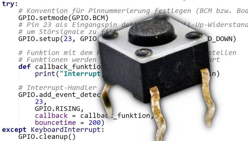Taster Raspberry Pi Callback Funktion Python Python 3 Function